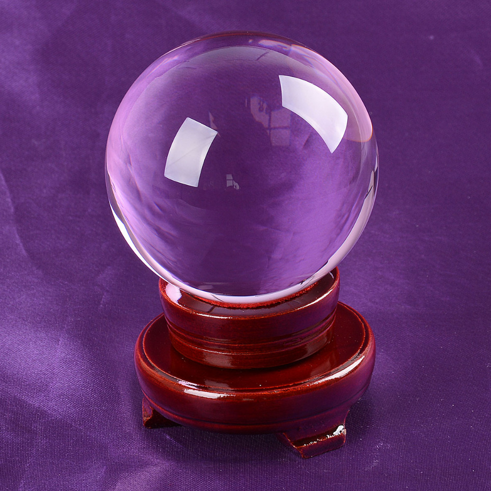 Ship From USA 80mm Rare Purple Asian Quartz Feng Shui Ball Crystal - Home Decor - Photo 1