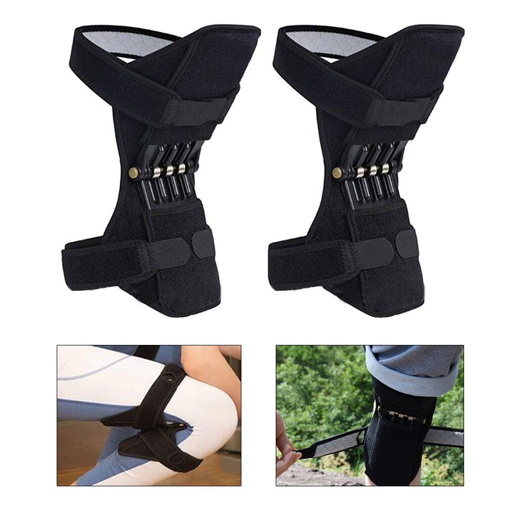 Breathable Non slip Power Lift Joint Support Knee Pads Professional Protective Powerful Rebound Spring Force Knee