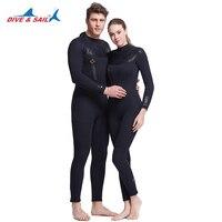 Full Body Thicker neoprene 5mm wetsuit couple swimsuit women scuba diving suit men spearfishing spears swimwear Fleece Lining