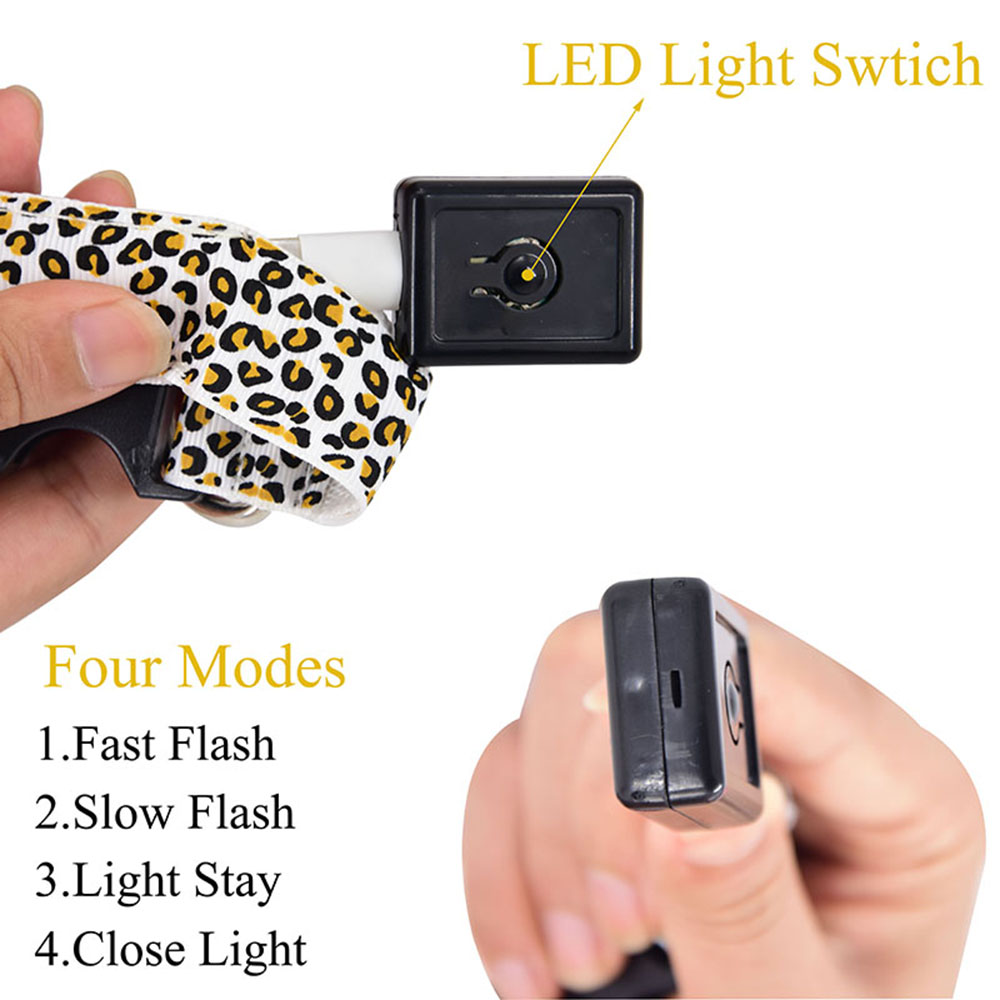 LED Dog Collar - Leopard Style 3