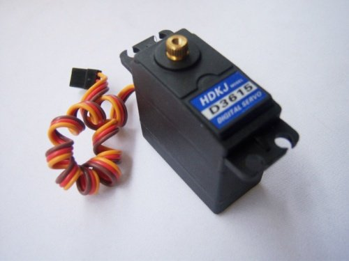 HDKJ D3615 56G Torque 15kg . Metal Gear Digital Standard Servo 180 Degree Rotation 4.8v-7.2v for DIY RC Car Boat Robot 35kg high torque coreless motor servo rds3135 180 deg metal gear digital servo arduino servo for robotic diy rc car