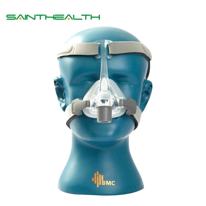 NM4 носовой маски с головные уборы и SML 3 размера подушке силиконового геля для CPAP и авто CPAP сна храпа апноэ здоровье и красота