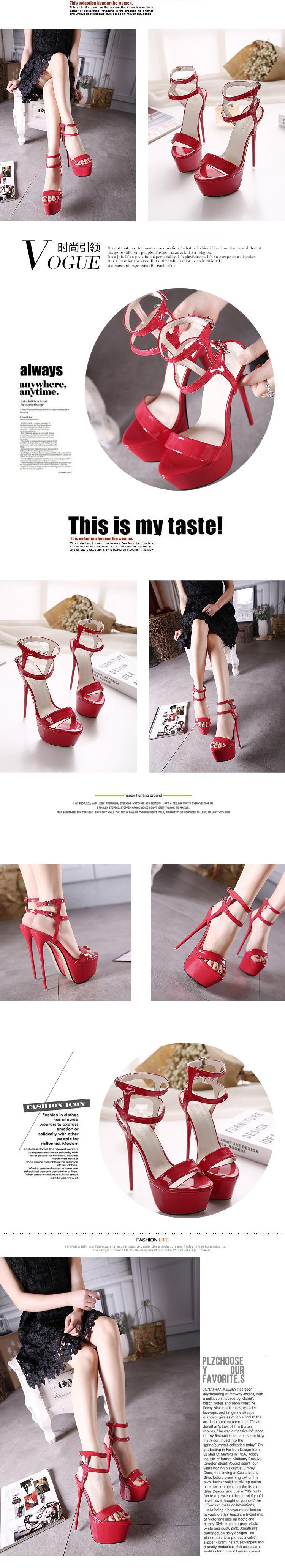 HTB1sMlYLVYqK1RjSZLeq6zXppXaK Women High Heels Sandals 16cm Sexy Stripper Shoes Party Pumps Shoes Women Gladiator Platform Sandals Size 35-46 CWF-my166-2