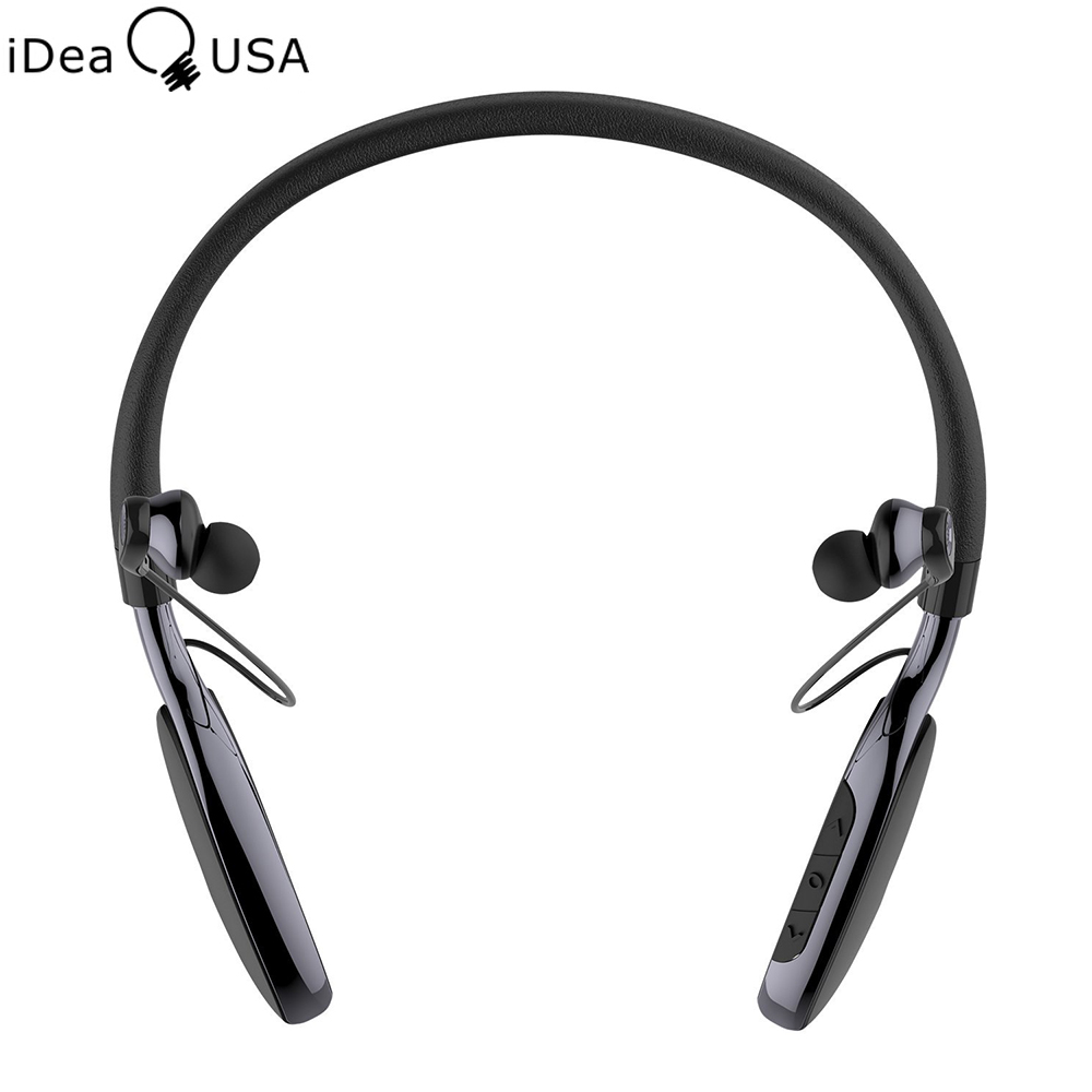 Prix pour Ideausa v205 annulation active du bruit nuque dans l'oreille sweatproof sport écouteurs sans fil bluetooth 4.0 casque micro intégré