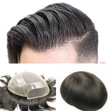 SimBeauty Toupee for Men Hair Pieces for Men Brazilian virgin human hair Replacement System for Men, 10