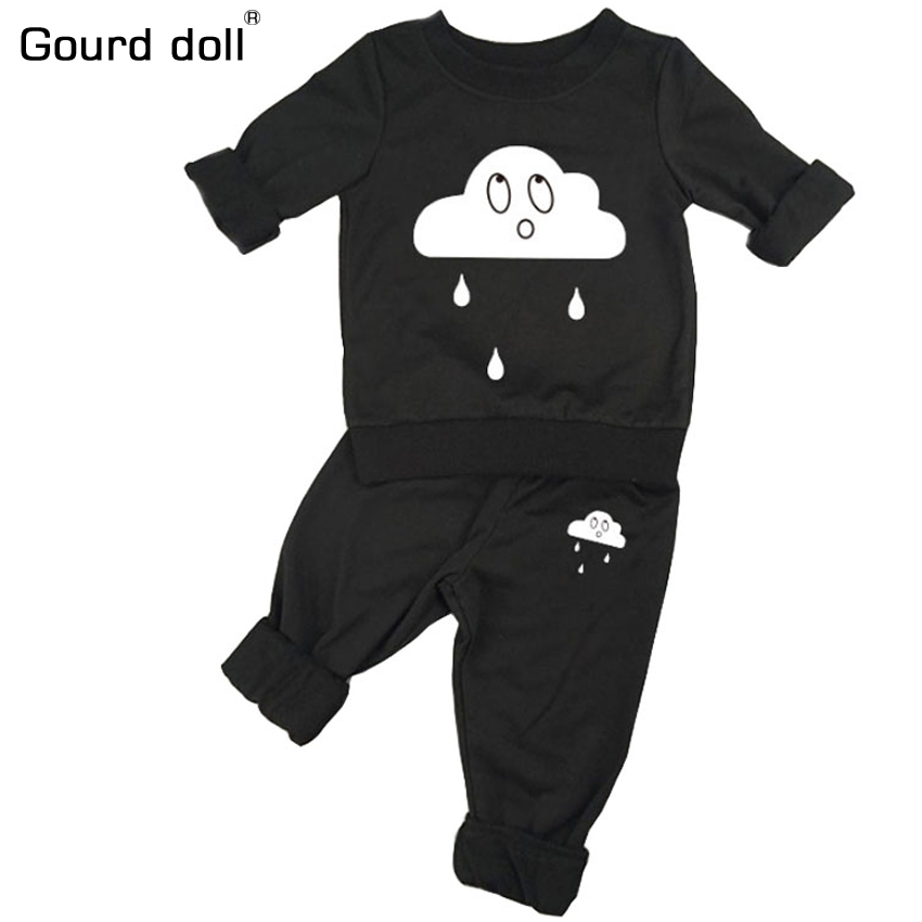 Print 0-24M suit for newborn Clothing sets Cotton Print 2pcs(Full Sleeve + Pants) Baby Boy Girl clothes suits Free Shipp