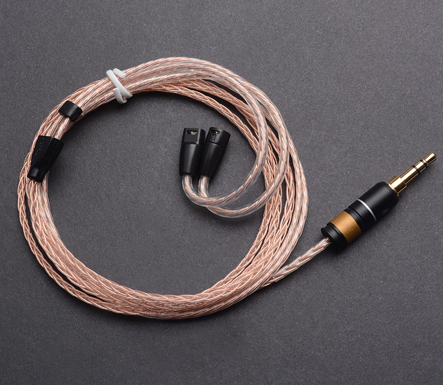 все цены на  Hand Made DIY 8 Core Single Crystal Silver Copper Mixed Hifi Updated Earphone Cable Cord For Sennheiser IE8 IE80 IE800 IE8I  онлайн