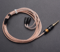 Hand Made DIY 8 Core Single Crystal Silver Copper Mixed Hifi Updated Earphone Cable Cord For