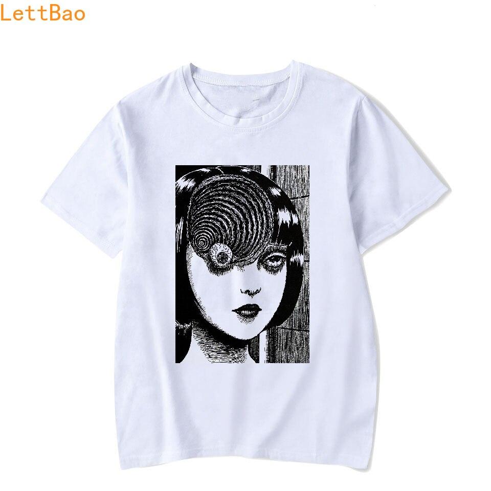 Uzumaki T Shirt Men Horror Manga Junji Ito T-Shirt Cotton O Neck Short Sleeves  Plus Size Graphic Tees Star Wars Tee Shirt Homme