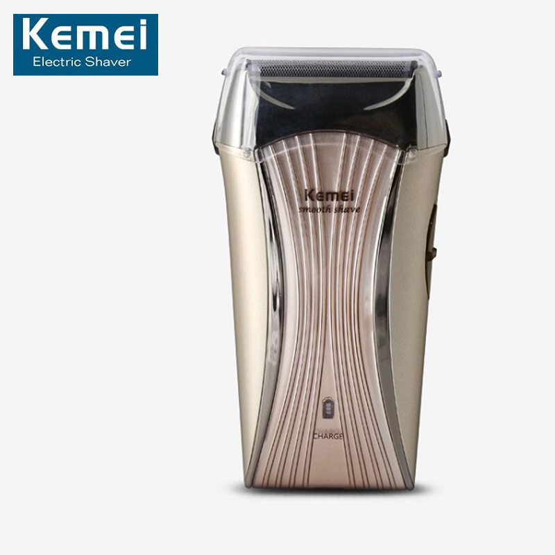 Kemei 710 Electric Shaver Reciprocating Razor Rechargeable 2 Blade Shaving Razors For Men Face Beard Care Floating Trimmer kairui rechargeable dual blade shaver razor w trimmer ac 220v