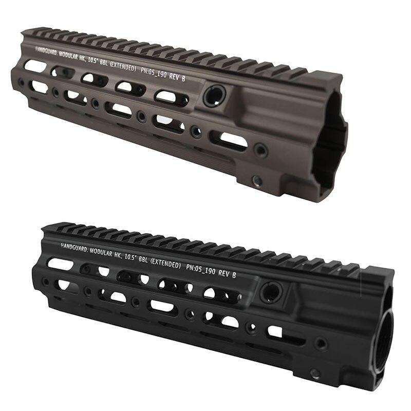 Di alta Qualità da 9.7 pollici Picatinny rail System Super Modulare Ferroviario Handguard Ferroviarie Per HK MR556 HK416 Airsoft