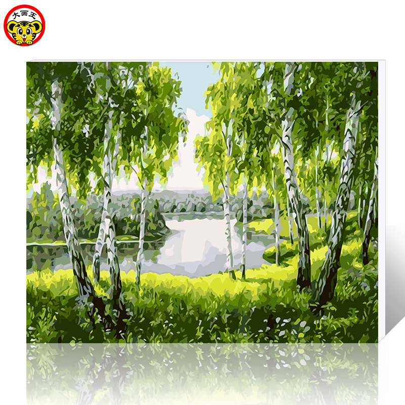 Frame painting by digital painting DIY canvas hand-painted home decoration scenery Chinese factory direct shipping