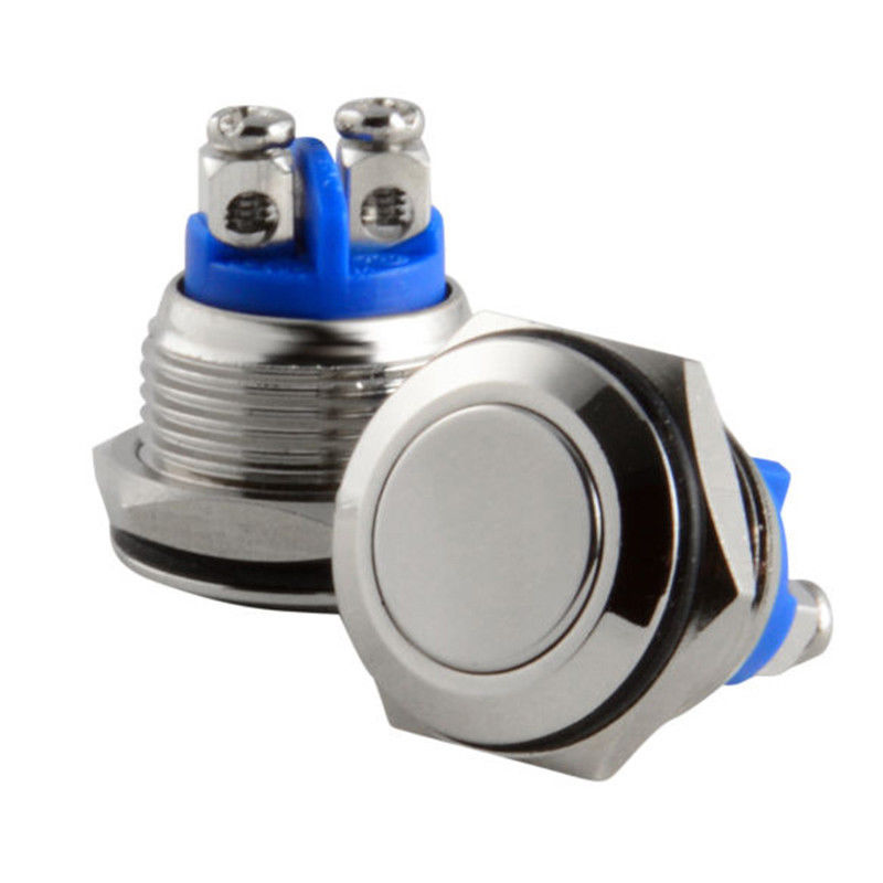Free Shipping 16mm Start Horn Button Momentary Stainless Steel Metal Push Button Switch Hot Worldwide