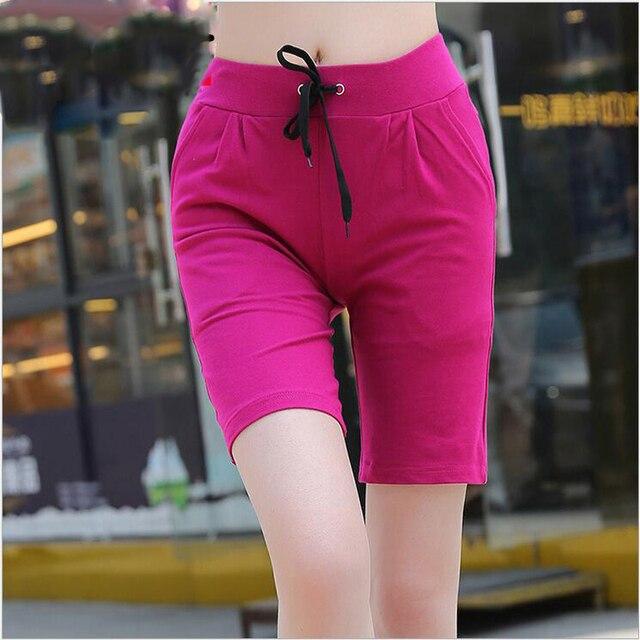 Big Size XXXL Cotton Shorts Women 2017 New Summer Fashion High Waist Femme Shorts Ladies Plus Size Casual Trousers Top Quality