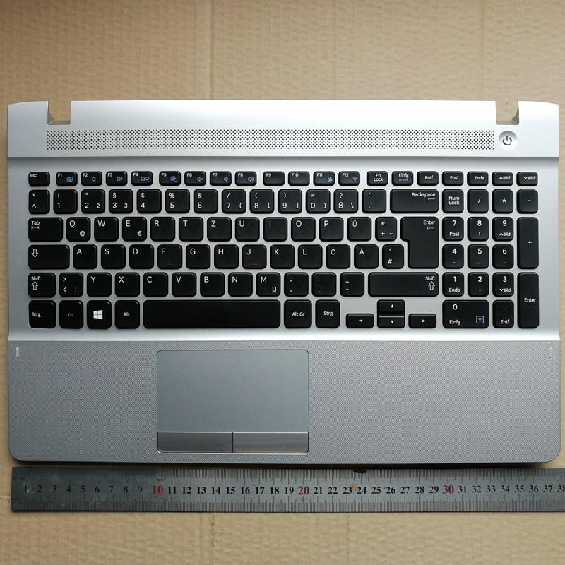 Germany layout new laptop keyboard with touchpad palmrest for Samsung 270E5V 270E5E 300E5E 275E5V 275E5E