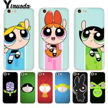 Yinuoda The Powerpuff Girls DIY Painted Beautiful Phone Case for iPhone X 6 6s 7 7plus 8 8Plus XR XS XSMAX11 11pro 11promax