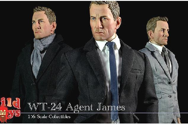 1/6 scale Super flexible figure Agent James Bond Suit Set 12 action figure doll Collectible Model plastic toy did1 6 scale doll jean reno french soldiers special edition super flexible figure model toy wwi soldier finished product