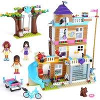 Lepin 01063 808Pcs Girl Friends Series Friendship House Heartlake City Building Block Kids Bricks Toys Compatible