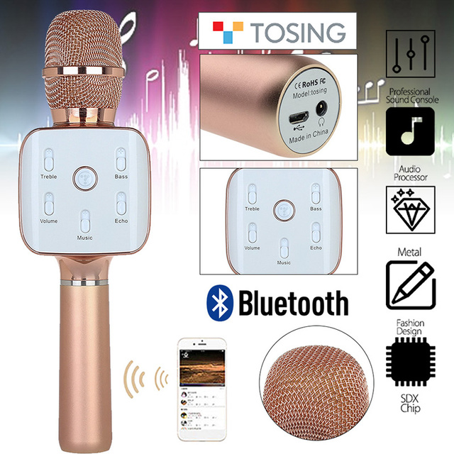 Free shipping!Tosing Teana2 Wireless Portable KTV Karaoke Microphone Handheld Microphone Bluetooth Mike For PC IOS Android Phone