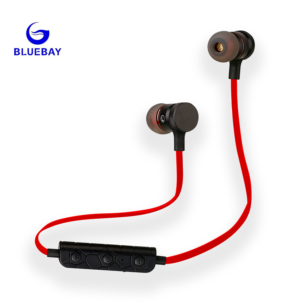 HeadphoneBluebay M90  Bluetooth Earphone Stereo With Mic Wireless Sport Running Bluetooth Headsets For  iPhone Xiaomi Android 2017 scomas i7 mini bluetooth earbud wireless invisible headphones headset with mic stereo bluetooth earphone for iphone android