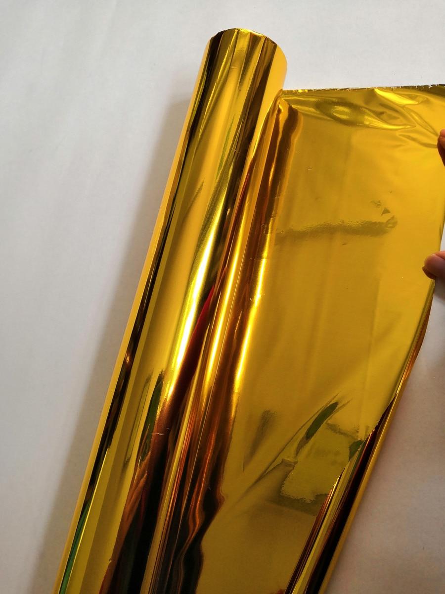 Feuille de marquage à chaud double face couleur or et argent pour papier et plastique 64 cm x 120 m