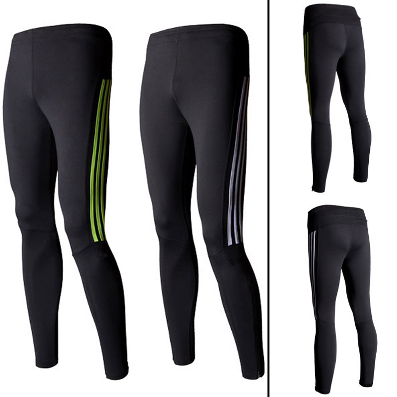 With Pocket Mens Compression Pants Sports Yoga Running Basketball Tights Mens Athletic Pants ...