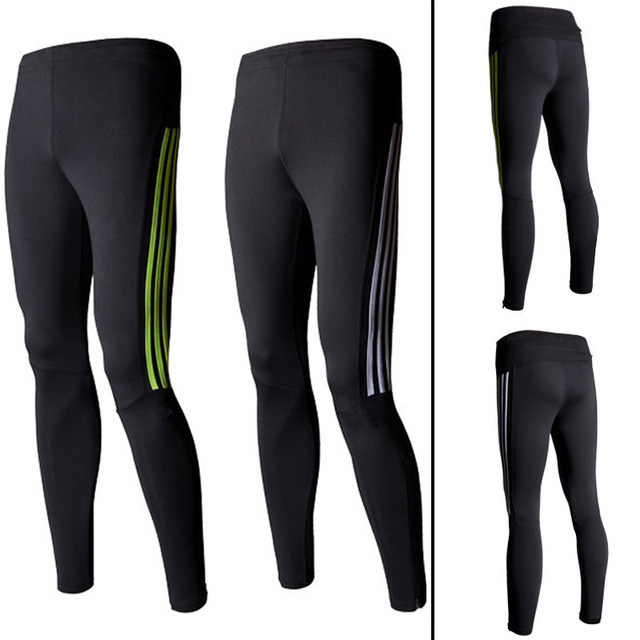 23dc5c17388f5 With Pocket Mens Compression Pants Sports Yoga Running Basketball Tights  Mens Athletic Pants Striped Tracksuit Bottoms