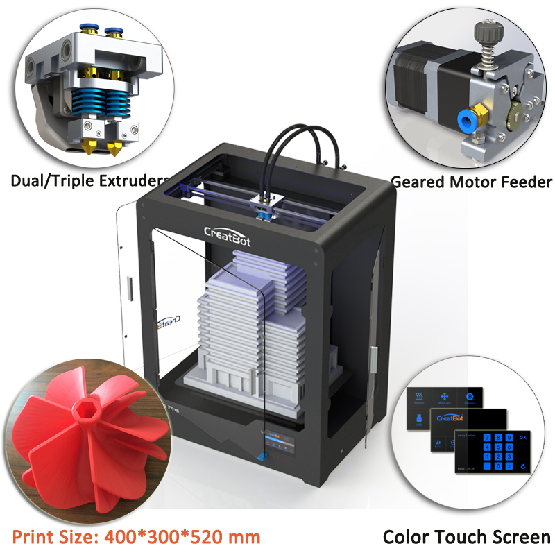 best verkopende DE plus 02 3d-printer machine dropship dual extruders - Office-elektronica - Foto 5