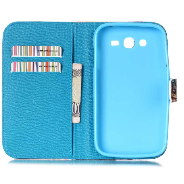 Leather Case For Samsung Galaxy Grand Neo i9060 i9062 Plus i9060i Phone
