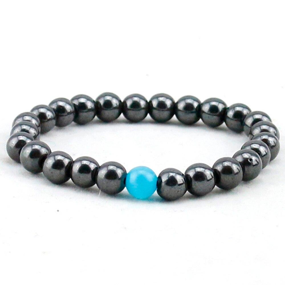 Water Drop Bracelet - Semi-Precious Natural Stones (8mm) - Handmade Genuine Quality Onyx Bracelet 5