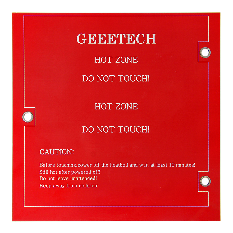 Geeetech mini square PCB reprap 3d printer heatbed 2 Layer 152*152*1.6mm for me creator