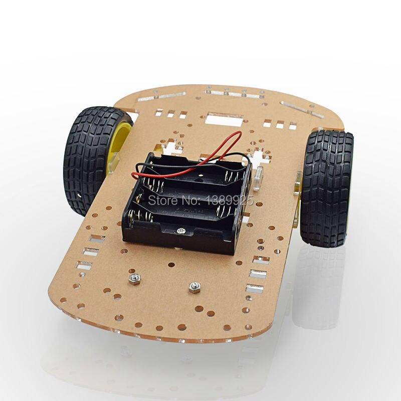 Двигатель Смарт Робот Шасси Автомобиля Комплект Скорость Энкодера Батарейный 2WD Для Arduino Бесплатная Доставка