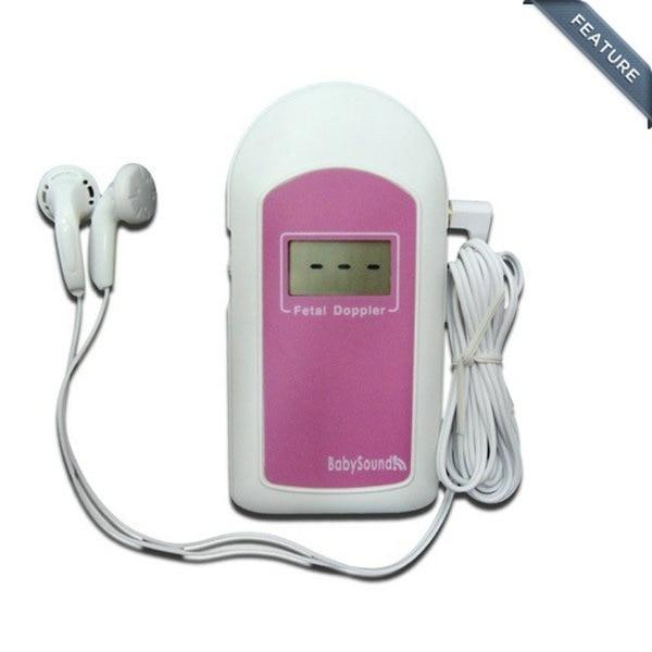 Free Shipping 2MHz Pink Baby-Sound-B Handheld Pocket Baby Heart Rate Listener Monitor Fetal Doppler