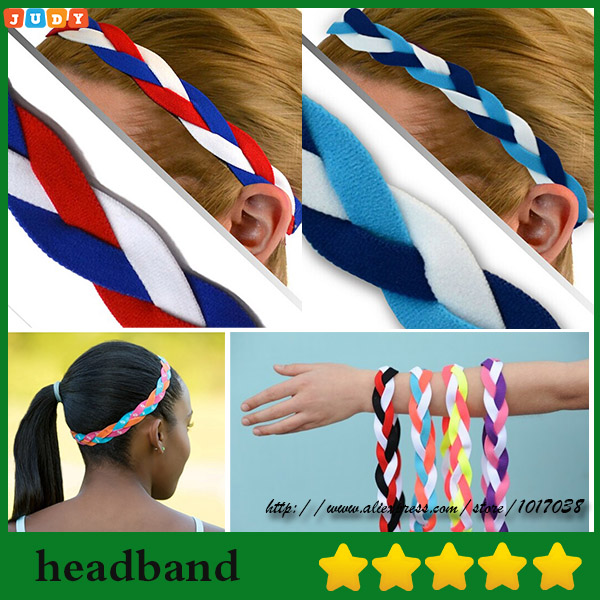 NEW Orange Black Grippy Bands Headband Hair Sports Soccer Softball Sweaty