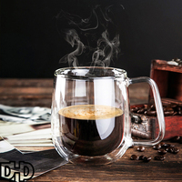 DHD New Arrival Starbucks Creative Class Cup Heat Resistant Gift Double Layer Coffee Cup 300ml 168g