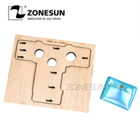 ZONESUN Customized leather cutting die handicraft tool Double open coin purse pouch punch cutter mold DIY paper wallet cut die
