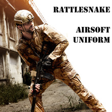 Tactical Military Hunting Airsoft Uniform For Men Autumn Spring Outdoor Paintball Set of Shirt and Pants