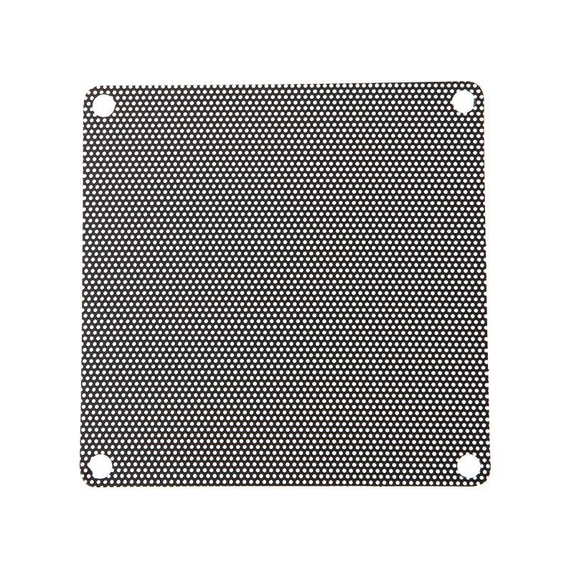 5 Piezas De Pvc Ventilador De Filtro De Polvo De Pc A Prueba De Polvo Caso Cortado Ordenador 80mm De Malla Negro