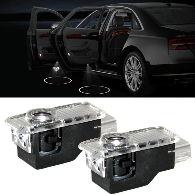 Do Promotion! 1pair Lights LED Logo Light Shadow Projector Car Door Courtesy Laser for Audi A1 A4 A5 A6 A7 A8 Q3 Q5 Q7 R8 TT 12v wireless led car door welcome laser projector 3d logo emblem light ghost shadow light for audi a8 a6l a6 a4l a4 r8 tt q5