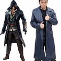 Xcoser Assassins Creed SyndicateTrench Coat Superhero Jacob Frye Costume Suit COSplay Props Replica