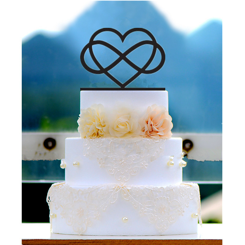 6infinity Cake Topper Infinity Heart Wedding Cake Topper