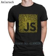 Js Wordcloud Programming Shirt For Javascript Deve T Family Hiphop Top Creative Mens T-Shirt Letters Summer Cotton Cute