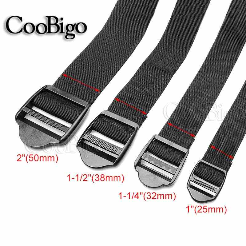 "1"" ~ 2"" Width Outdoor Camping Travel Tied Brand POM Ladder Lock Luggage Belt Strap Adjustable 48"" Length  Polypropylene Webbing"