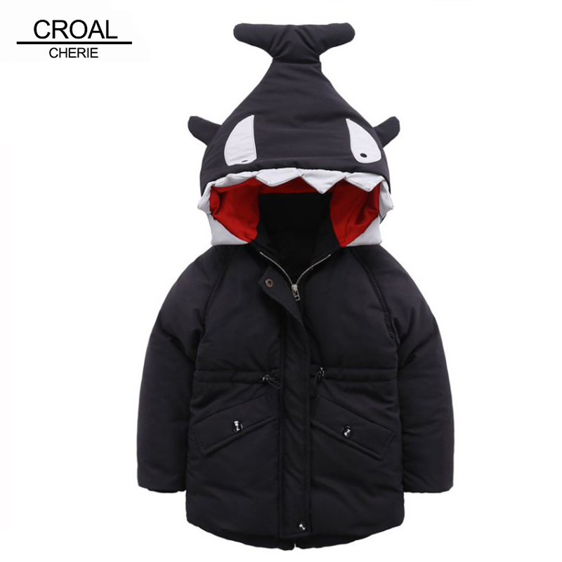 CROAL CHERIE 80-130cm Shark Modeling Kids Winter Jackets And Coats Hooded Outerwear Coats For Baby Children Clothes cherie cherie lip balm mint