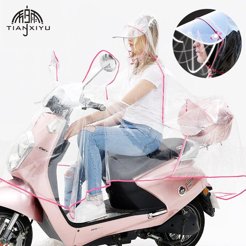 Double couche chapeau Eaves moto électrique imperméable Transparent imperméable femmes imperméable imperméable manteau de pluie bord réfléchissant couverture de pluie