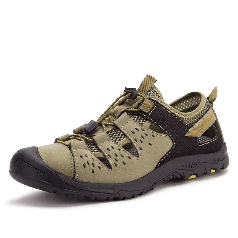 2019 classique eau marche plage Sandalias sandale été porte chaussures hommes sandales pour décontracté nouveau cuir véritable 6J1920