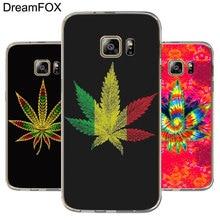 DREAMFOX M059 Art Weeds Soft TPU Silicone Cover Case For Samsung Galaxy S5 S6 S7 S8 S9 S10 S10E Lite Edge Plus поло emporio armani emporio armani em598emdpyh2