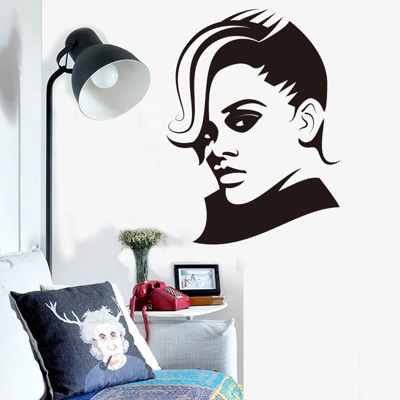 Cocoplay beautiful woman wall stickers wall art decor for living room bedroom decoration for Beautiful wall stickers for living room