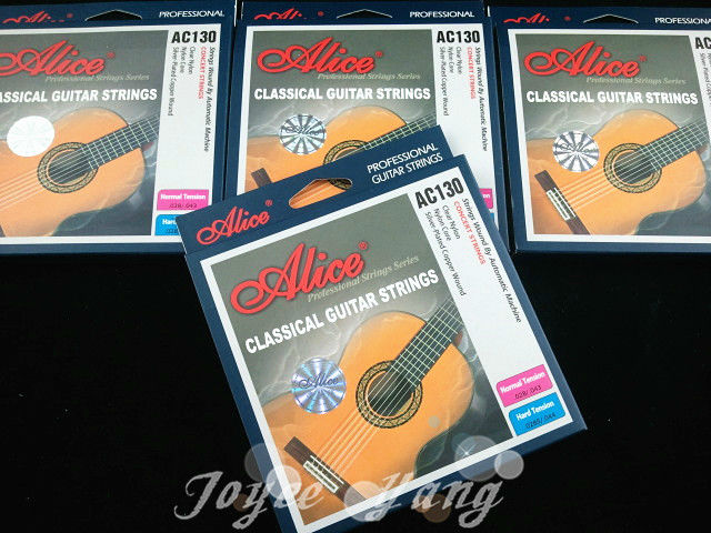 3 Sets of Alice AC130 Normal/Hard Nylon Classical Guitar Strings Excellent Clear Nylon Strings Free Shipping Wholesales classical guitar strings set cgn10 classic nylon silver plated normal tension 028 045 classical guitar strings 6strings set