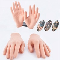 DIY 3D Synthetic Hand Tattoo Practice Skin Soft Silicone Fake Hand For Beginners Tattoo Practice 1 Piece